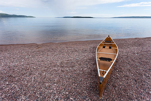 Lake Superior, canoe, Ontario